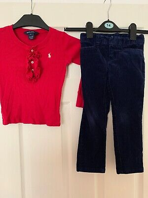 Girls Ralph Lauren Trousers And Top Age 5