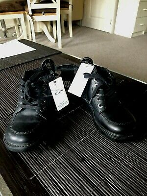 Marks Spencer M&S Boys/Girls Kids Real Leather School Shoes Black UK 11