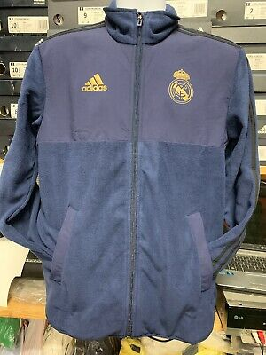 Adidas Real Madrid Flecce Jacket Navy Gold 19/20 Limited Edition  Large   Only
