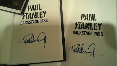 Kiss Paul Stanley ''Backstage Pass'' Signed Autographed Book