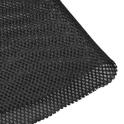 Speaker Grill Cloth 1x1.45M Polyester Fiber Stereo Mesh Fabric Black