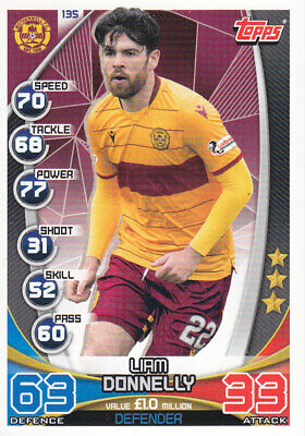 TOPPS MATCH ATTAX SPFL 2019-20 - Liam Donnelly - Motherwell - # 135