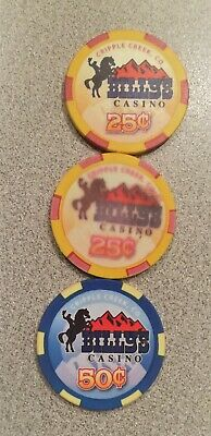 Vintage Poker Chips from Bill's Casino, Cripple Creek, CO.