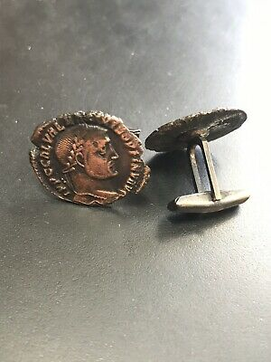 Ancient Roman Coins Made into Nice Quality Cufflinks Bronze