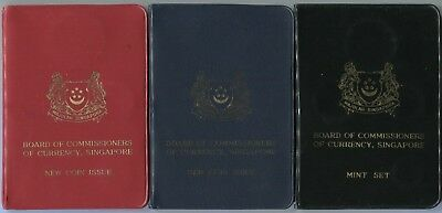 "1967, 68,1969 Singapore Mint Sets ""Board of Commissioners of Currency"" KM# MS1-3"