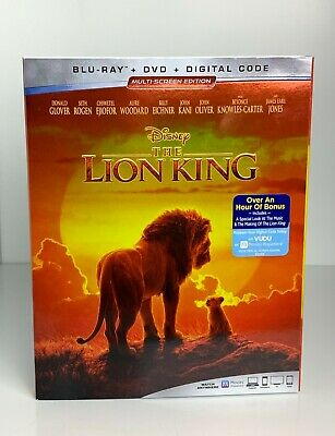 The Lion King (Blu-ray + DVD + Digital Code, 2019, 2 Discs) Brand New Sealed
