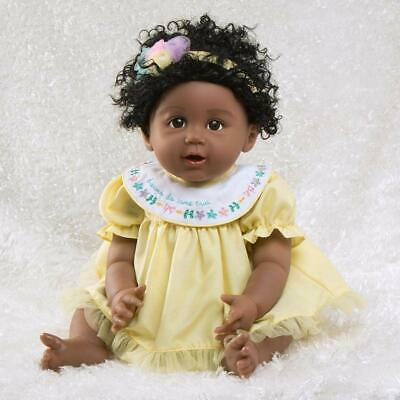New Paradise Galleries African American Black Reborn Baby Doll Rainbow Blessings