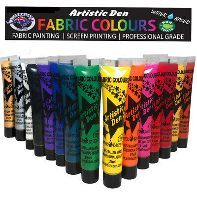Fabric Paint 15 x 15ml Textile Fabric Fabric Paint Set  Paint  Artistic Den **