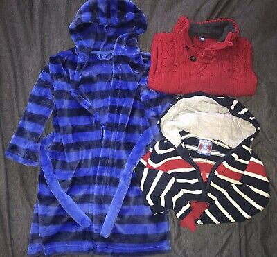 Boys Age 3-4 3 Item Bundle Jumper Hoodie Dressing Gown M&S Gap Tu Autumn/Winter