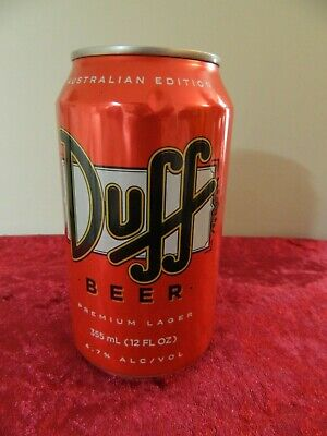 The Simpson's Duff Beer Can  AUST  EDITION  Unopened   EXC COND