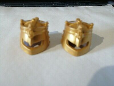 Playmobil: 2 Casques Chevaliers/ Helmet Helm Casco Knight Ritter Caballero#523