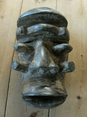 Early to mid 20th century Ivory Coast Guere wood tribal war mask