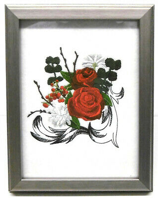 Boutique Rose - Framed Embroidery