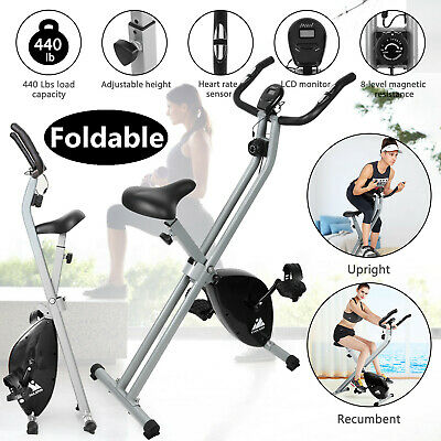 3IN1 Folding Exercise Bike Cycling Cardio X-Bike Upright Recumbent Exercise Bike