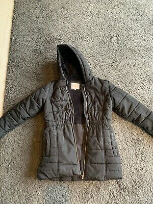 M&S Girls Winter Warm Black Coat size 11-12 age,Good Condition