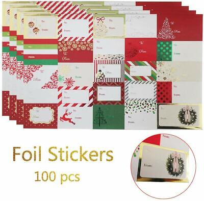 Christmas Sticker Labels,Self Adhesive Gift Stickers Holiday Gift Name Decals Fo