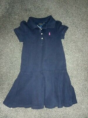 Girls Ralph Lauren Polo Kids Blue Dress Age 5