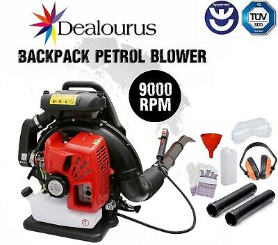 75cc Petrol Backpack Leaf Blower Powerful 240MPH Back Pack