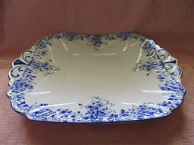 Shelley Bone China, England, Dainty Blue Pattern , Handled Cake Plate - Vgc