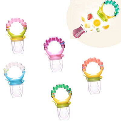 Baby Dummy Feeding Nibbles Weaning Nutrition Pacifier Fresh Food Fruit Feeder TP