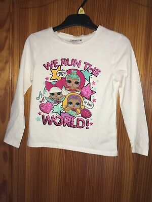 Girls LOL Surprise Dolls Long Sleeve Top - Age 6 Years  White