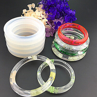 Silicone Mold Casting Mould For Resin Bangle Bracelet Jewelry Making DIY Tools'