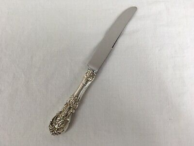 """Reed & Barton Francis I Sterling 9-5/8"""" BVLD Dinner Knife No Mono DENTED"""