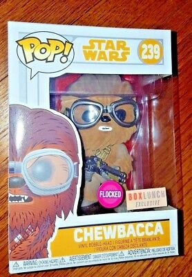 Funko Pop Star Wars Solo Movie #239 Flocked Chewbacca  Box Lunch Exclusive Rare