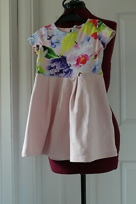 Girl's Pink Mix Ted Baker Short Sleeve Dress Size 4-5 Years