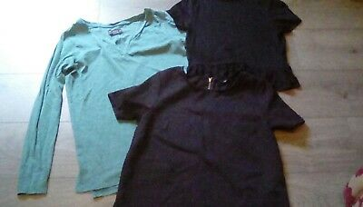Ladies Bundle of 3 Tops size 10 Topshop, Next & New Look good condition
