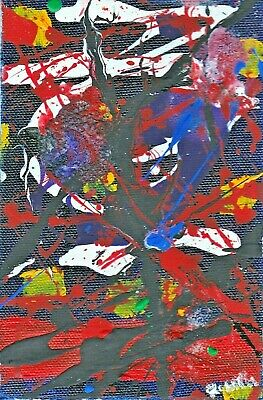"""Abstract Expressionism-Affordable! """"Circus: Ten"""" Ready To Hang! Reduced!"""