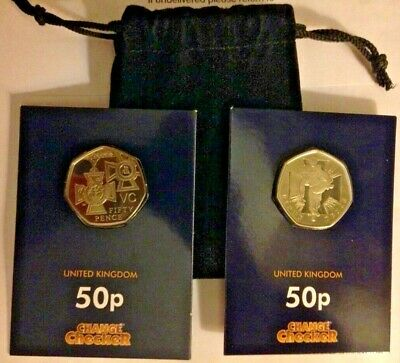 50p PROOF COINS- LIMITED EDITION SET- VICTORIA CROSS + SOLDIER -RARE PROOF COINS