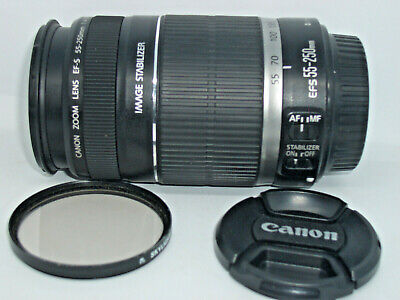 Canon EF-S 55-250mm F/4-5.6 IS Telephoto Zoom Lens - Excellent Condition