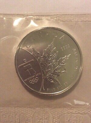 2008 Canadian $5 Maple Leaf Vancouver Olympics 2010 1oz silver .9999 coin