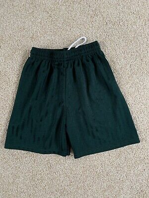 Unisex Green PE Shorts Age 7 8 Years School Sports