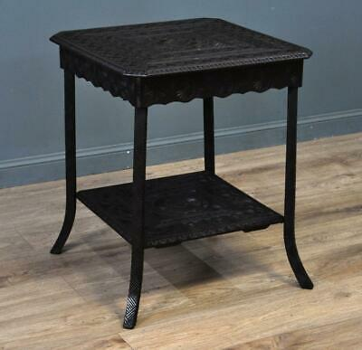 Attractive Antique Heavily Carved Occasional Side Hall Window Table