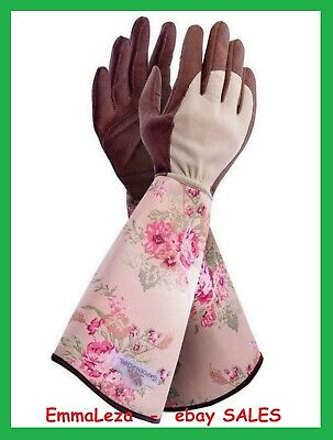 GardenGirl  Ladies Rose Pattern Gloves Gauntlets    Designed For Women by Women