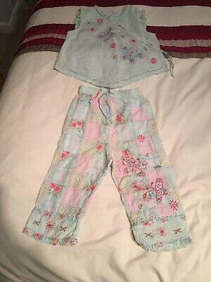 Age 2-3 Girls Monsoon Summer Outfit - Trousers And Top