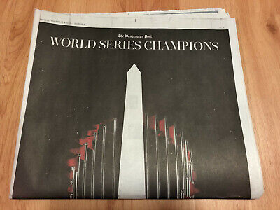 Washington Post Nationals World Series Champions Special Newspaper 11/4/14