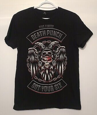 Five Finger Death Punch Got Your Six 5FDP Metal Band T Shirt Small