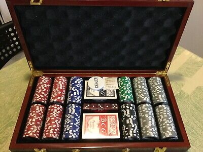 Vintage Casino Poker Chips Gambling Chip Set With Case Dealer Chip Denominations