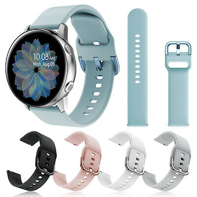 For Samsung Galaxy Watch Active 2 40/44mm Silicone Sport Wrist Band Strap Loop