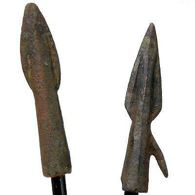 2 Ancient Bronze Arrow Points 350BC time of Trojan-Greek War-Alexander the Great
