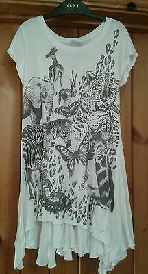 Girls Next Safari Zebra Leopard Gazelle Butterfly Tunic/Leggings age 7 EX COND!!