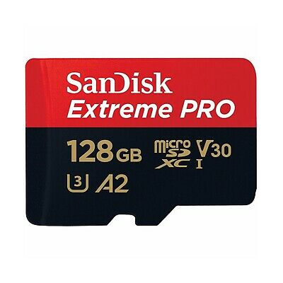 SanDisk Micro SD Card Extreme Pro 128GB SDXC 170MB/s V30 A2 Phone 4K HD Memory