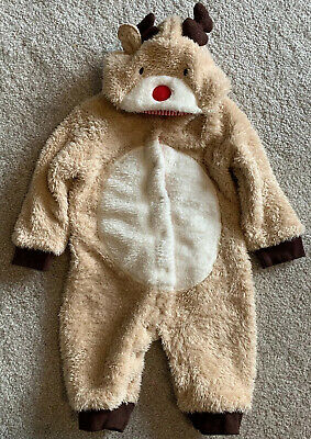 Jojo Maman Bebe Reindeer All In One Baby Outfit Age 3-6 Months