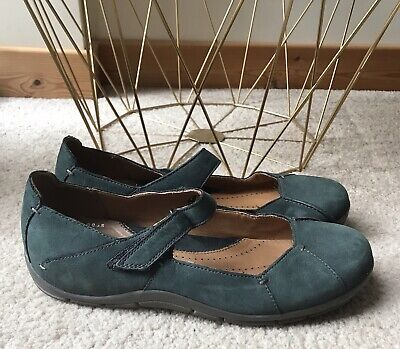 CLARKS ACTIVE AIR Blue Ballerinas UK 5 38 Leather Pumps