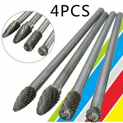 Chamfering Carbide Rotary Tools 1/4inch Shank Long Reach Silver Useful