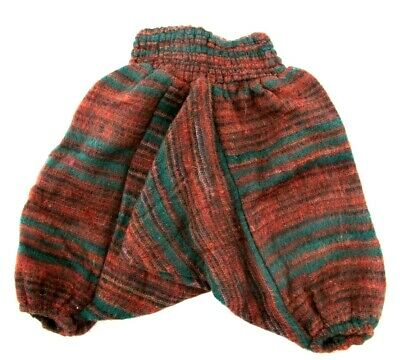Kids Trousers Winter Wooly Wool Childrens Harem Pants  Girls/Boys Hippie Clothes