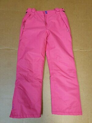 Girls Mountain Warehouse Snow Pink Skiing Snowboard Trousers Age 11-12 W30 L26